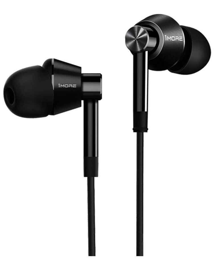 1MORE Dual Driver Earphone with Mic (Jet Black) zoom image