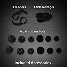 Extra earbuds and ear hooks for comfortable fit