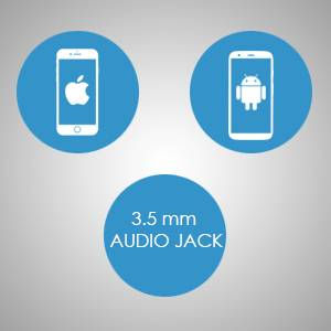 Compatible with devices that suppports 3.5 mm audio jack