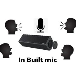 In built mic for handsfree calls