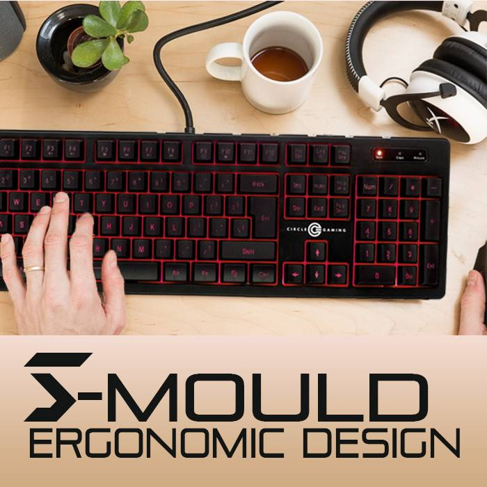 S-mould ergonomic design comfortable to use it for long hours