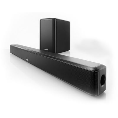 Powerful Soundbar and wireless subwoofer