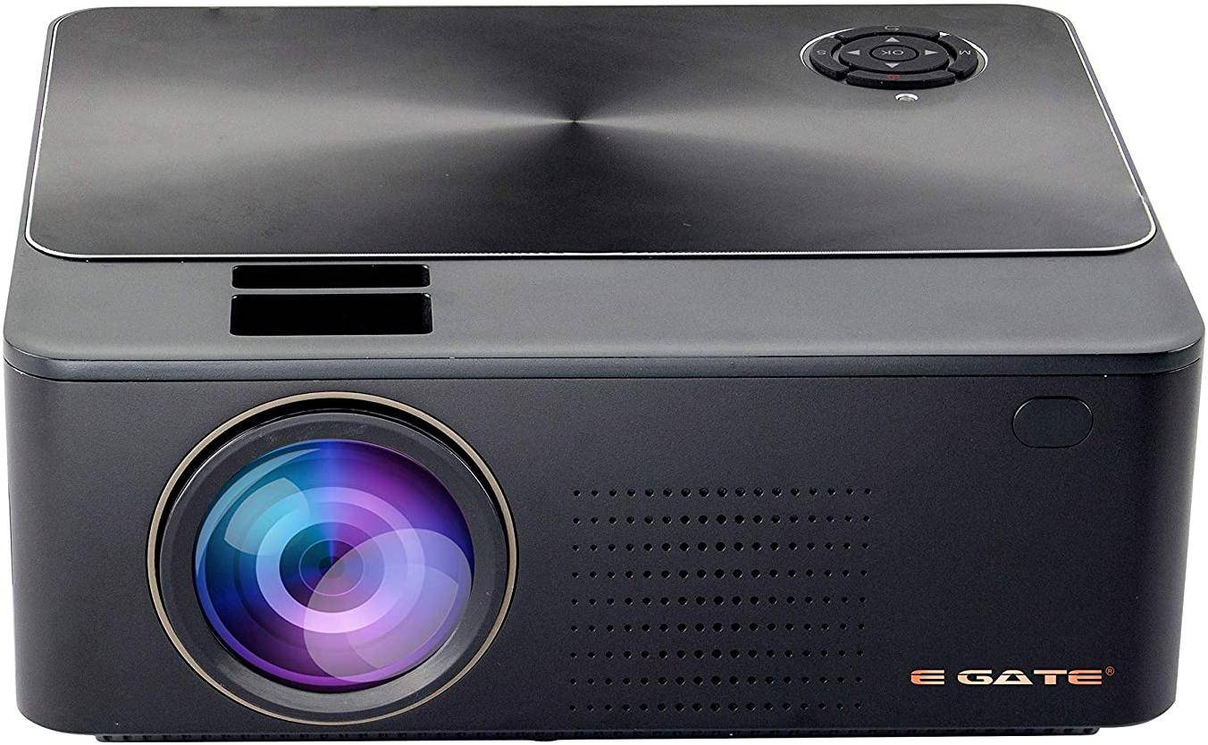 Egate K9 Android LED Projector 720p (1080p support, 3000 Lumens 4D Digital Keystone) With Built In Speaker zoom image