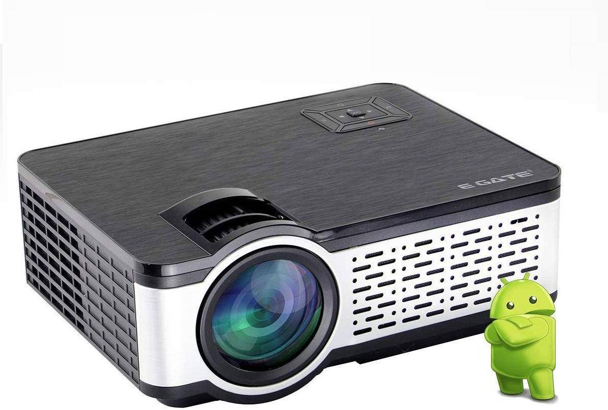 Egate i9 Real HD  Android 720p (1080p Support, 2400 Lumens) with 150 Large Display LED Projector zoom image