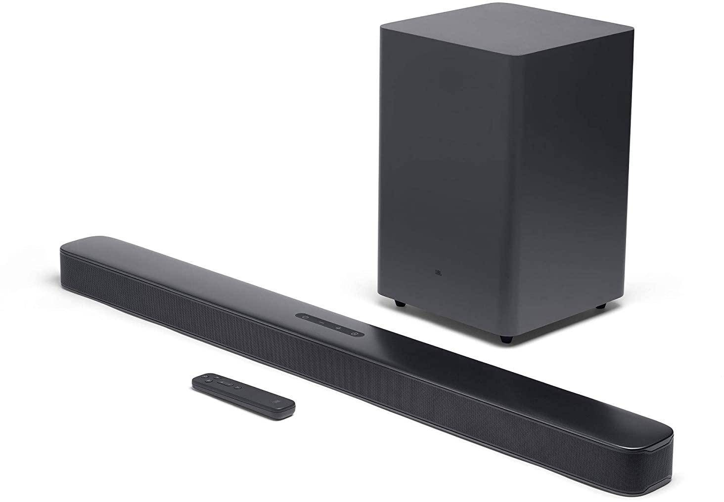 JBL Bar 2.1 Deep Bass Soundbar with Dolby Digital Wireless Subwoofer (300 Watts) zoom image