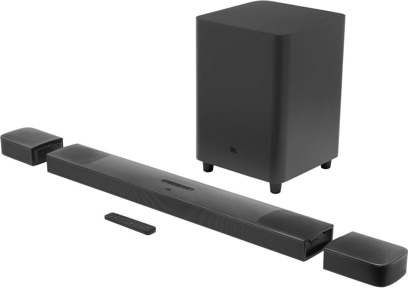 JBL Bar 9.1 True Wireless Surround Sound Soundbar With Dolby Atmos, Detachable Wireless Speakers, Ultra HD4K Pass Through & Built-in WiFi (820 Watts, Black) zoom image