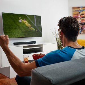 Enhanced tv sound gives feeling of cinema hall