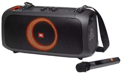 JBL PartyBox On-The-Go Portable Party Speaker With Built-in Lights And Wireless Mic zoom image