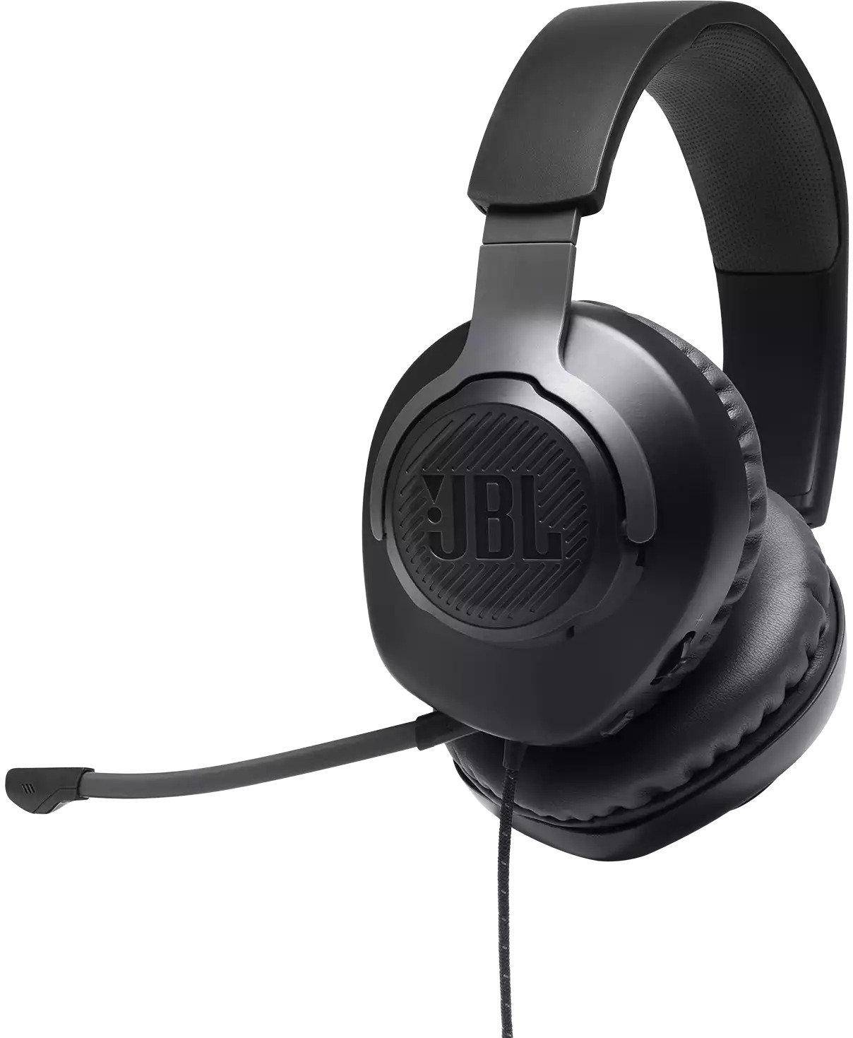 JBL Quantum 100 Wired Over-Ear Gaming Headset With Mic zoom image