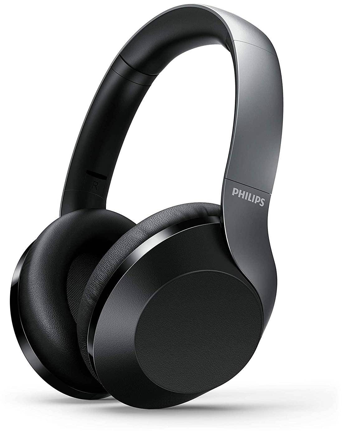Philips Performance TAPH805BK Active Noise Cancelling Headphones (with mic) zoom image