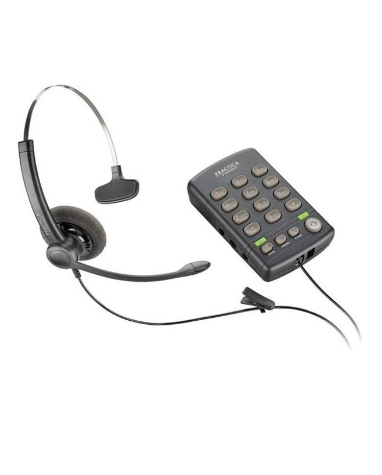 Plantronics Practica T110 Headset(SP12 Binaural) Headset & Dial Pad Call Center Headset  zoom image