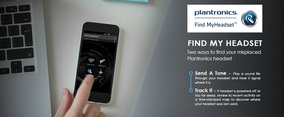 Find your headset using the plantronics mobile app