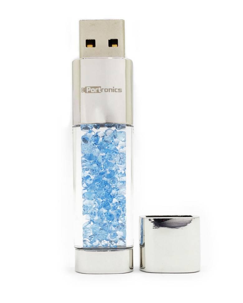 Portronics Crystal Bar 16GB Pen Drive (Blue) zoom image