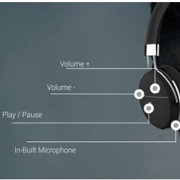 Different functions on the right ear cup of the headphone provide user friendly experience