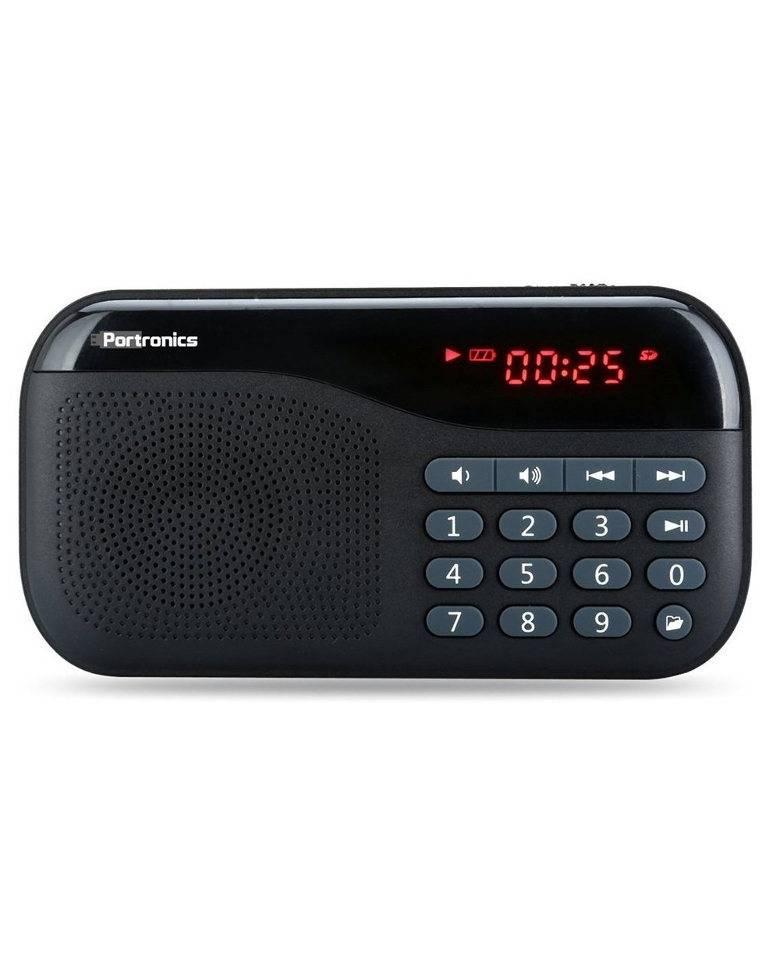Portronics POR-141 Portable Speaker with FM & MicroSD Card zoom image