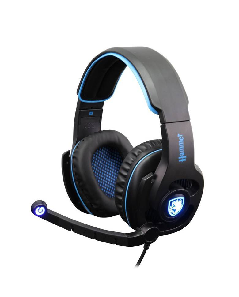 Sades Hammer SA-923 Professional Gaming Headphone with Mic zoom image