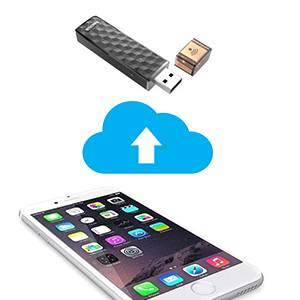 Transfer your files to the connect wireless stick instantly