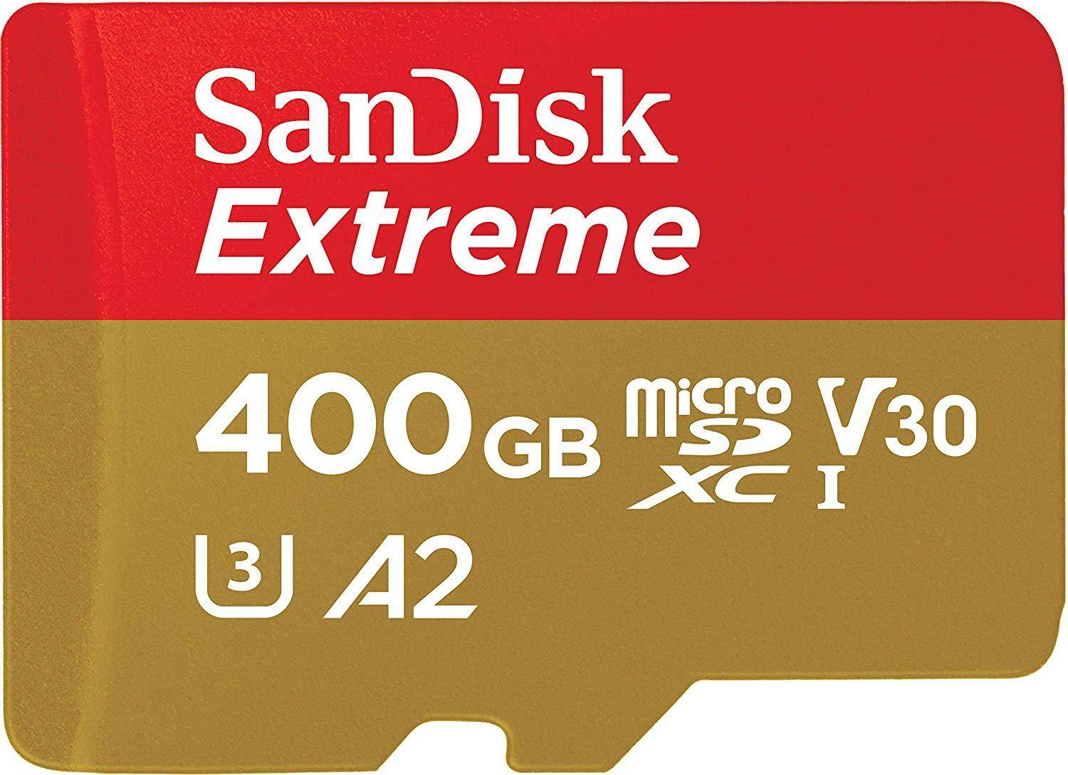 SanDisk Extreme micro SDXC UHS-I 400 GB Memory Card with Adapter (SDSQXA1-400G-GN6MA) zoom image