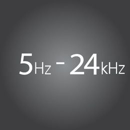 High frequency response produces better sound quality