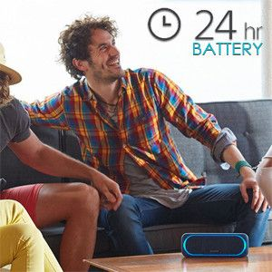 SRS-XB30 lasts up to 24 hours once fully charged