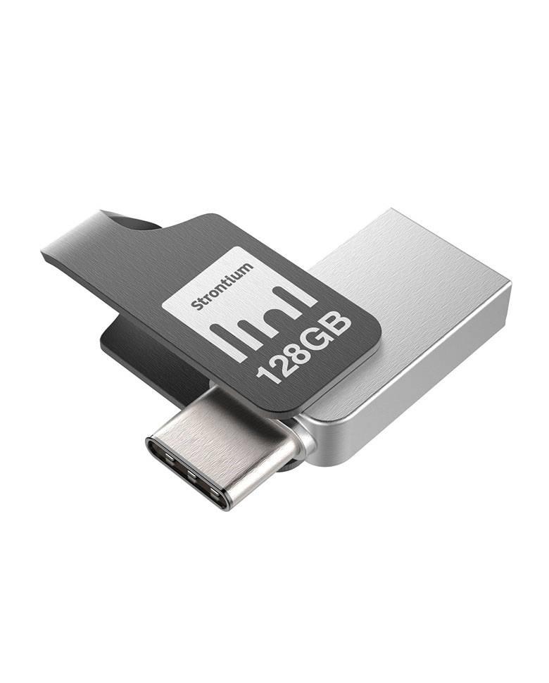Strontium Nitro Plus 128GB On-The-Go TYPE-C USB 3.1 Flash Drive (SR128GSLOTGCY) zoom image