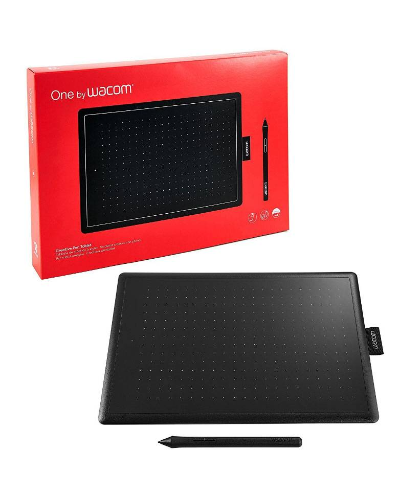 One By WACOM CTL-672/K0-CX Medium Size (8.5 x 5.3 Inch Active area) Graphic Tablet With Pen zoom image
