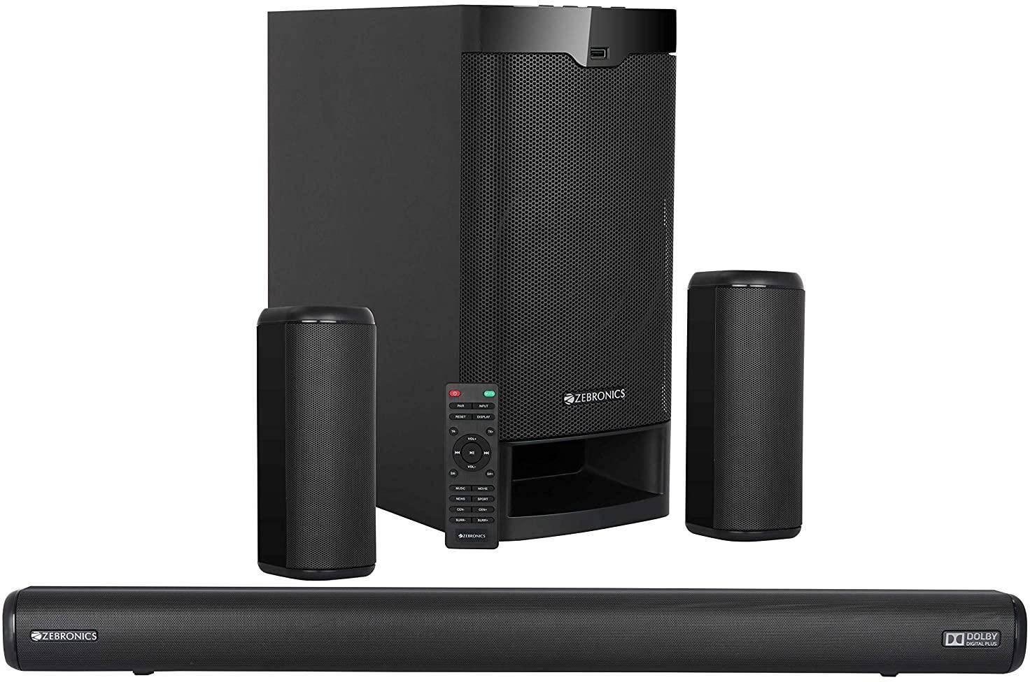 Zebronics Zeb-Juke Bar 9400 Pro Dolby 5.1 525 W 5.1 Soundbar With Subwoofer zoom image