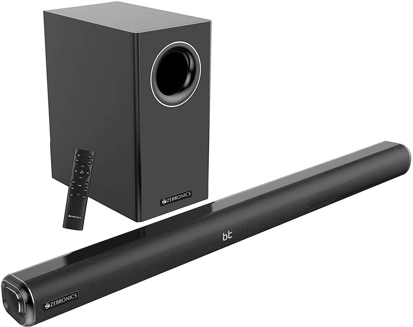 Zebronics Zeb-JUKEBAR 6000DWS PRO, 160W Multimedia soundbar with Wireless subwoofer zoom image